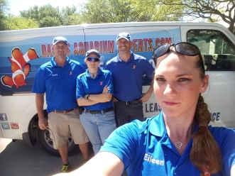 The Dallas Aquarium Experts Aquarium Service Staff
