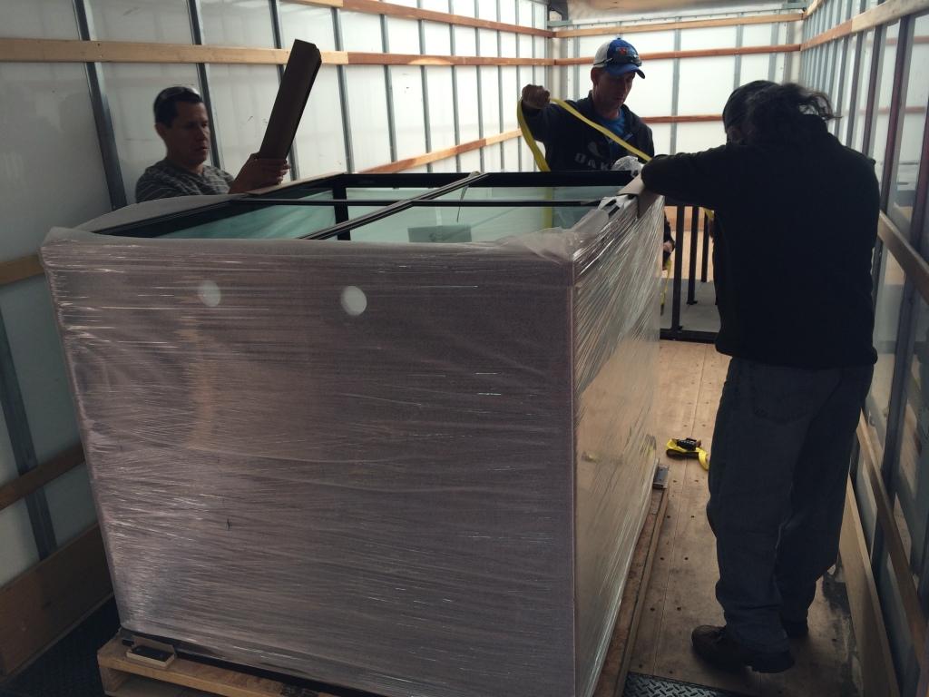 Planet Aquarium getting ready to be shipped via freight to Dallas Aquarium Experts Customer