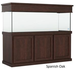 175 Gallon Aquarium with Spanish Oak Classic Aquarium Cabinetry