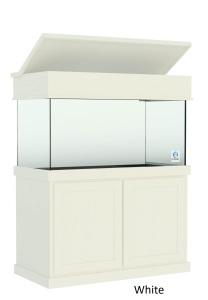 120 Gallon Aquarium with Claasic White Aquarium Cabinetry