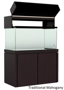 120 Gallon Aquarium with Elegance Tyle Aquarium Cabinetry Stain selection Traditional Mahogany